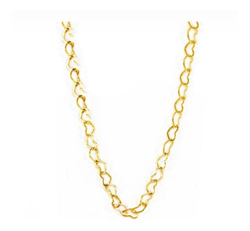 corrente coração folheado a ouro 18k com pulseira de coração