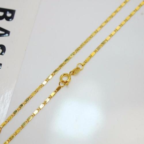 corrente cordao banhado a ouro18k 43cm garantia de 1 ano