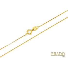 Corrente Cordão Colar Em Ouro 18k Veneziana 40cm 0,50mm