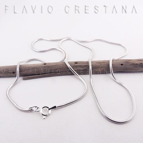 corrente cordao rabo de rato, 50 cm x 1,6 mm, prata 925. ita