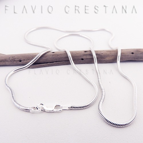 corrente cordao rabo de rato, 50 cm x 1,9 mm, prata 925. ita