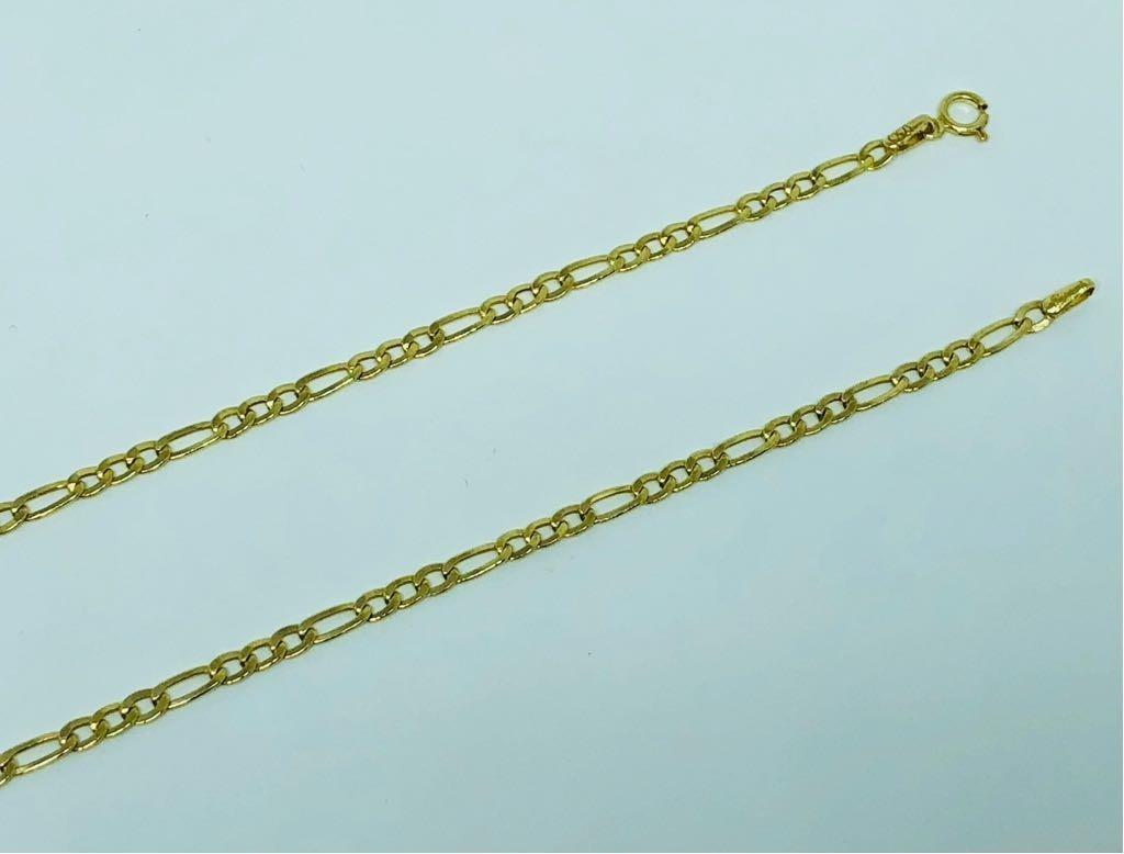 32d800f3f7ece corrente cordão 3x1 grumet 60cm masculino ouro 18k. Carregando zoom.