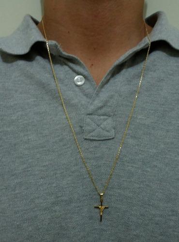 corrente cordão banhado a ouro 18k com 1 ano de garantia