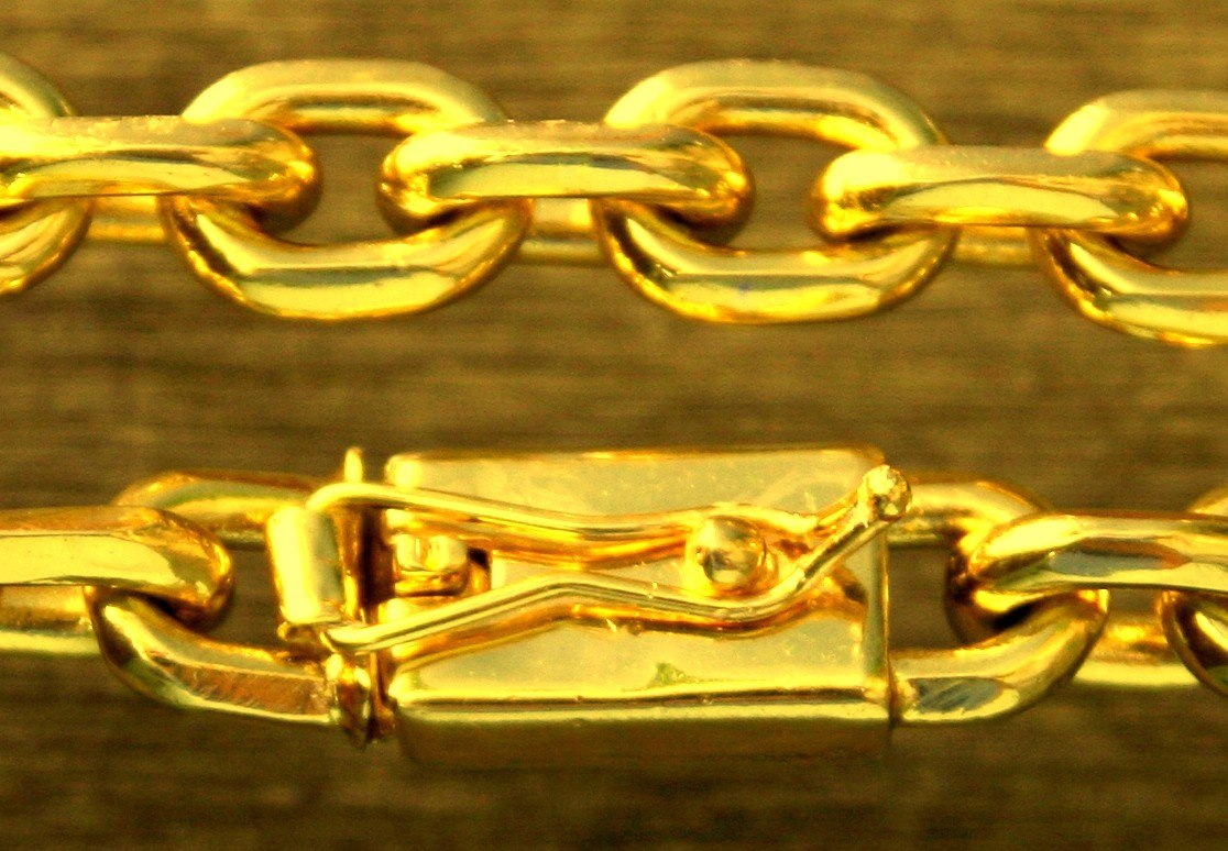 9e4a75d3e46c1 corrente cordão big banhado a ouro com 11mm fecho gaveta. Carregando zoom.