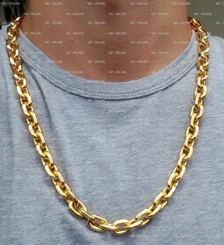 corrente cordão big banhado a ouro com 11mm fecho gaveta
