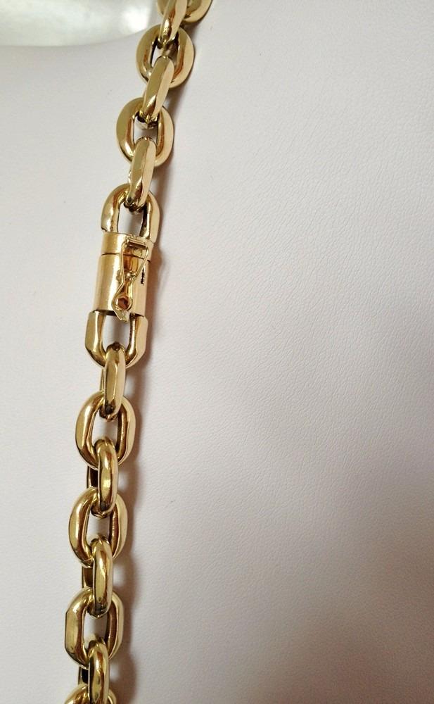 b778b7c41ea Corrente Cordão Cadeado Em Ouro 18k Grossa Á Vista - R$ 7.920,00 em ...