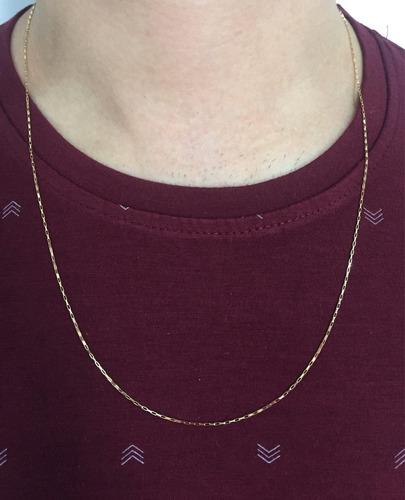 corrente cordão cartier 60cm masculino ouro 18k frete grátis