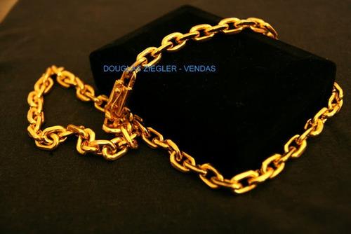 corrente cordão cartier banhada ouro 18k - 75cm - 200gramas