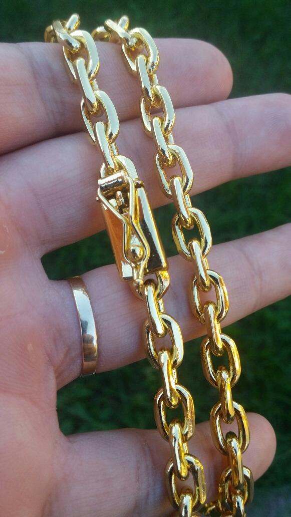 15ebafd8f8c corrente cordão cartier folheado a ouro 18k 8mm 100gramas. Carregando zoom.