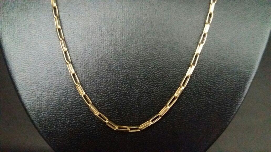 6dffba71b91 corrente cordão cartier oca alongada 60cm masculino ouro 18k. Carregando  zoom.
