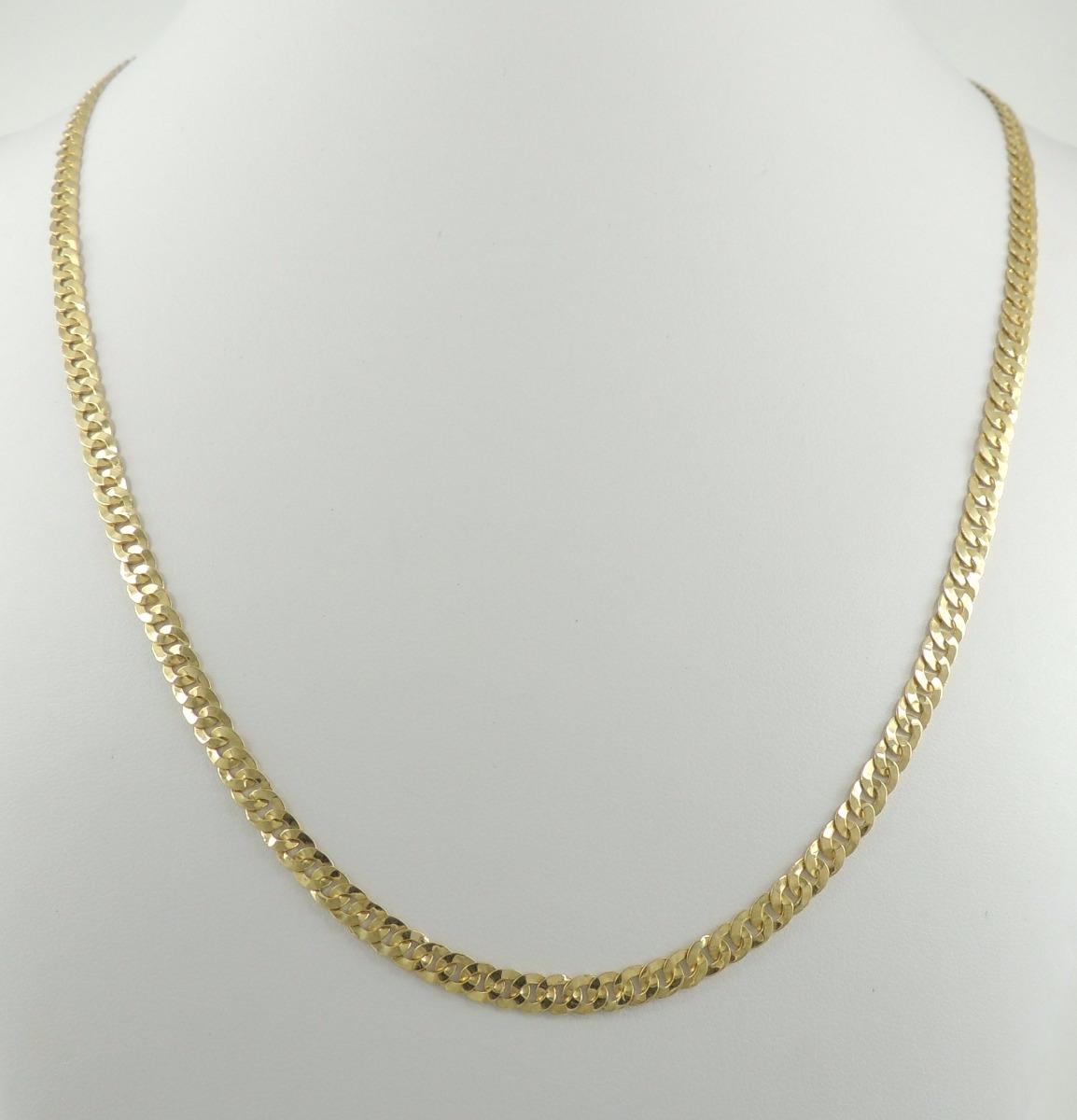 6ba354871af corrente cordão colar em ouro 18k maciço malha grumet 15g. Carregando zoom.