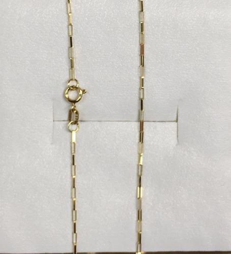 corrente cordão de ouro 18k 750 60cm cart quadrado