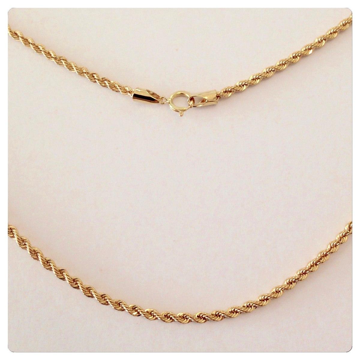 corrente cordão de ouro 18k torcido baiano de 45cm grossa. Carregando zoom. 257ffc351a