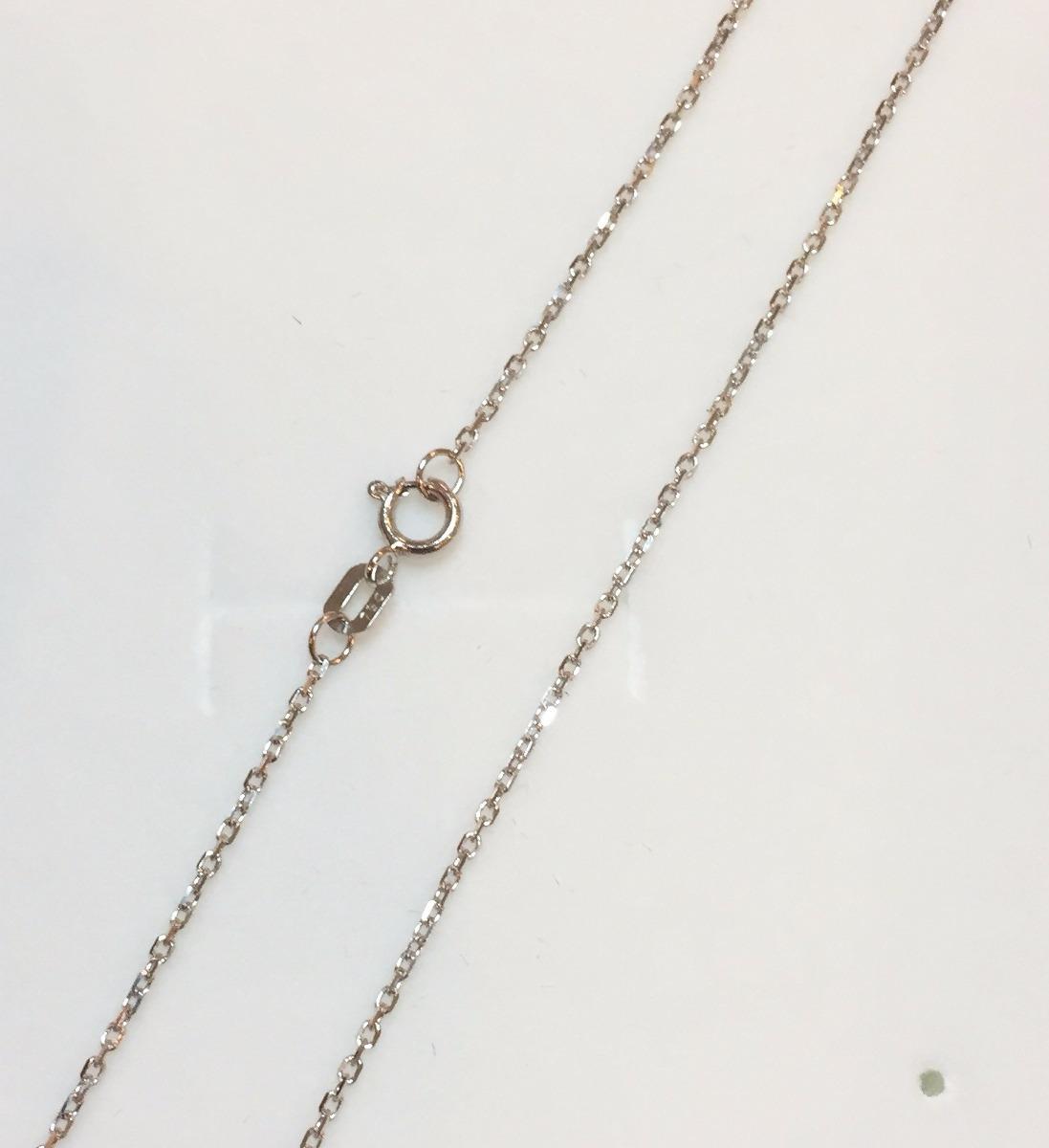 3dc5f340770 corrente cordão de ouro branco 18k 60cm 1mm 2 gramas. Carregando zoom.