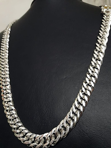 corrente cordão de prata 925. elos duplos 10mmx70cm