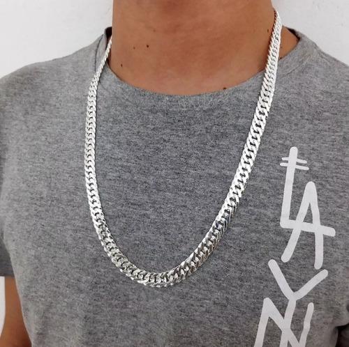 corrente, cordão de prata 925 elos duplos