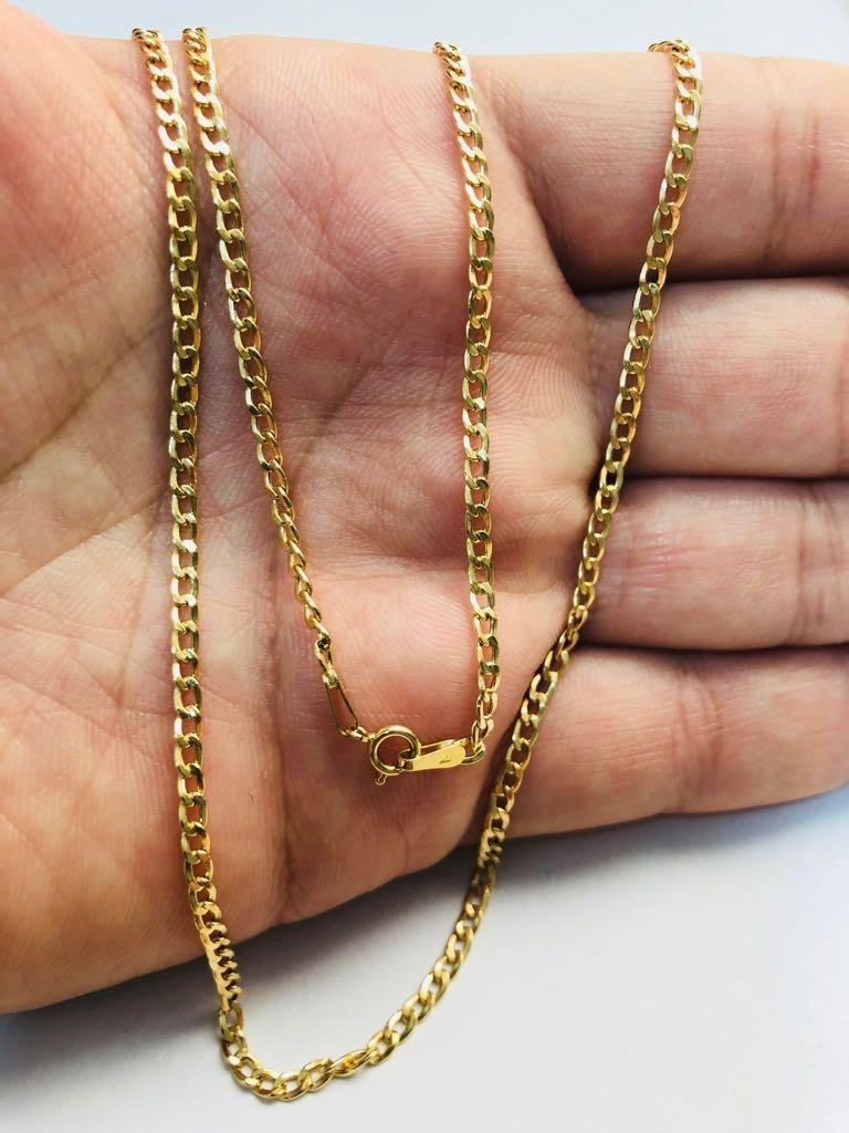 864f5c4dc92e4 corrente cordão grumet 60cm masculino ouro 18k frete grátis. Carregando zoom .