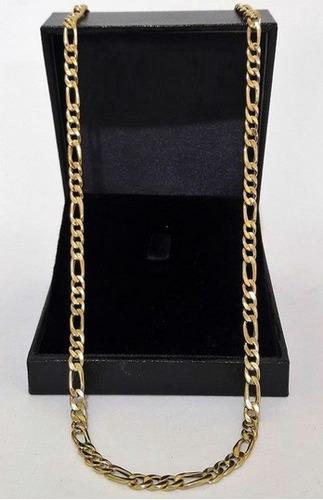 corrente cordão grumet elo 3x1 ouro 18k / 12.16g / 60cm