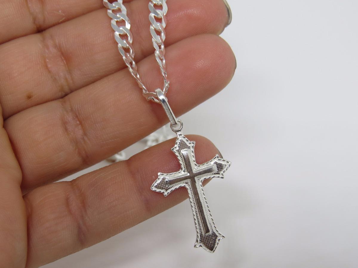 1cf8deae66 corrente cordão grumet + pingente crucifixo em prata 925. Carregando zoom.