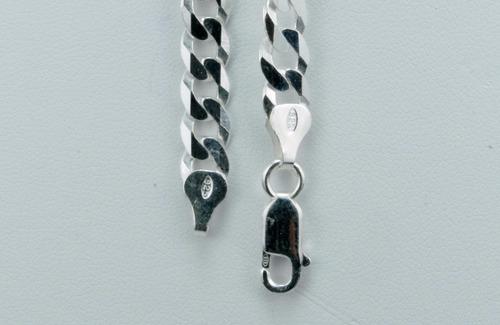 corrente cordão italiano grumet 7mm x 70cm em prata 925