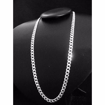 corrente cordão italiano grumet masculino prata 925 maciça