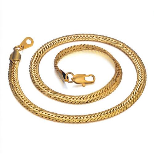 corrente cordão maciço masculina banhada ouro 18k 5mm 50cm