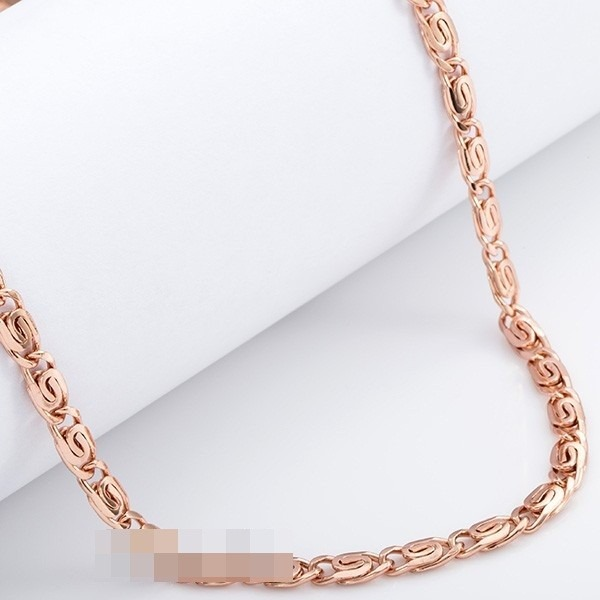 Corrente   Cordão Masculino Banhado A Ouro Rosé 18kt - 71cm - R  110 ... 54f405ed30