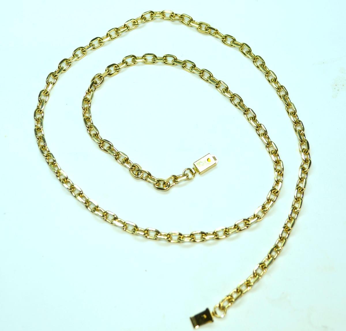 88b6fb4ce88 corrente cordão masculino cartier banhada ouro fecho gaveta. Carregando  zoom.