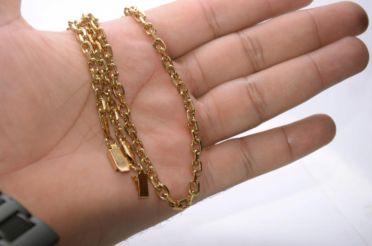 37a5df2539e corrente cordão masculino cartier banhada ouro fecho gaveta. Carregando  zoom.