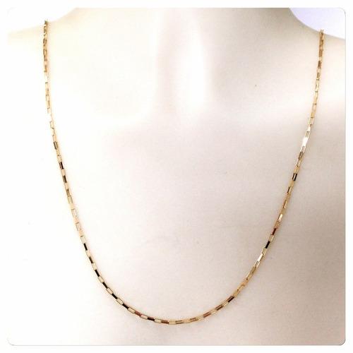 corrente cordão masculino cartier de 60cm joia ouro 18k-750
