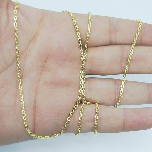 corrente cordão masculino modelo cartier banhado c ouro 18k