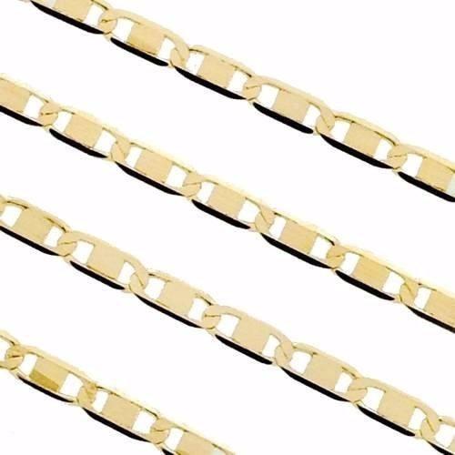 corrente cordão masculino piastrine maciça 60cm em ouro 18k