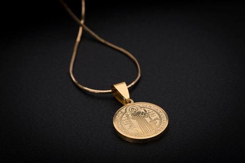 corrente cordão ogrife aço inox j-190 banhado ouro masculino 70cm