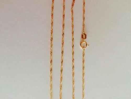 corrente cordão ouro 18k feminina singapura 45cm
