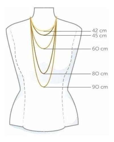 corrente cordão ouro 18k  feminina - singapura 45cm c/nf/gar