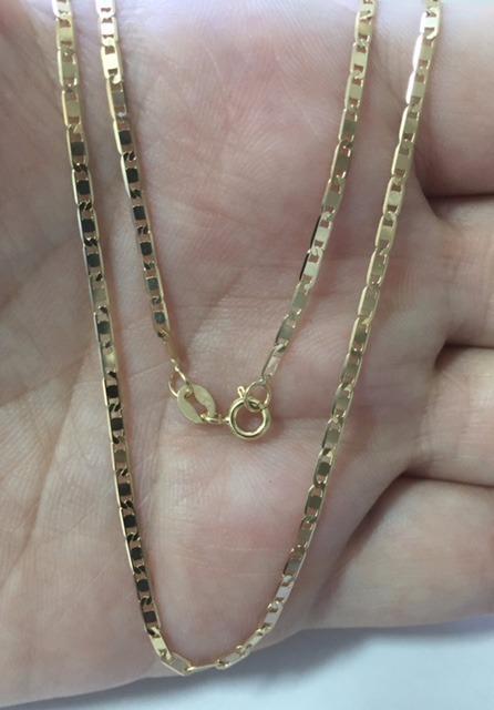 c2b1b23cc2dbf Corrente Cordão Piastrine 60cm Masculino Ouro 18k - R  1.049,00 em ...