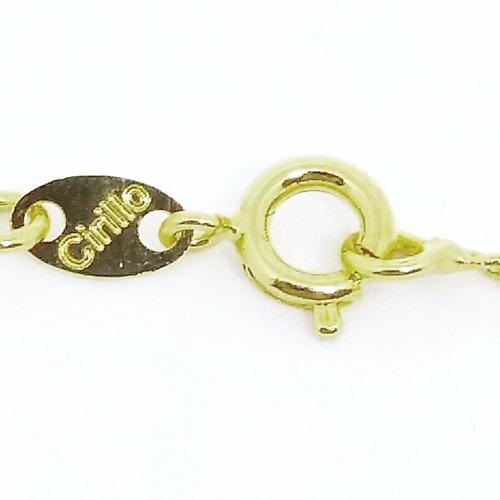 corrente cordão + pingente são jorge f-ouro 18k 190429.2