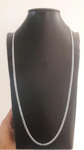 corrente cordão prata 925 3x1 e 1x1 70cm 3mm muito barato