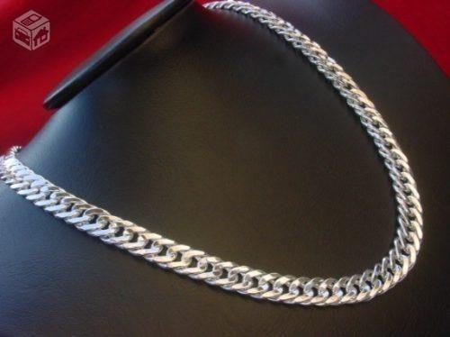 corrente cordão pulseira bracelete prata 925 70cm 155 gramas