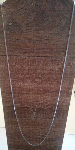 corrente cordão rabo rato 2mm laminada 70 cm  prata 925