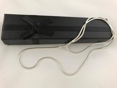 corrente cordão rabo rato redonda 80 cm 2,5 mm prata 925