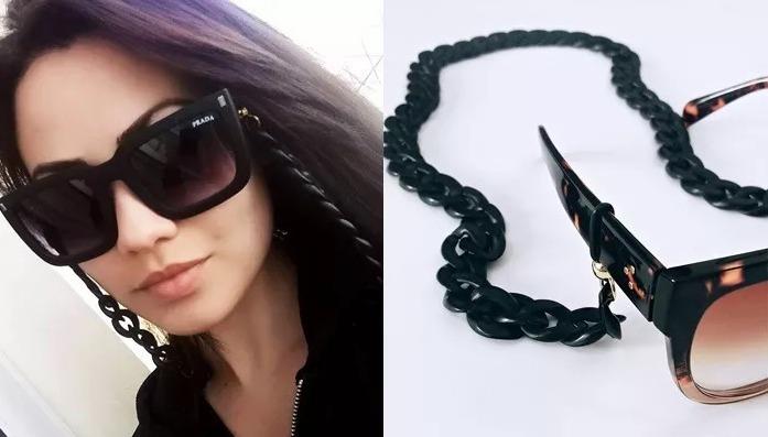 Corrente Cordão Salva Oculos Blogueira Cordinha Correntinha - R  24 ... 4d140565e4