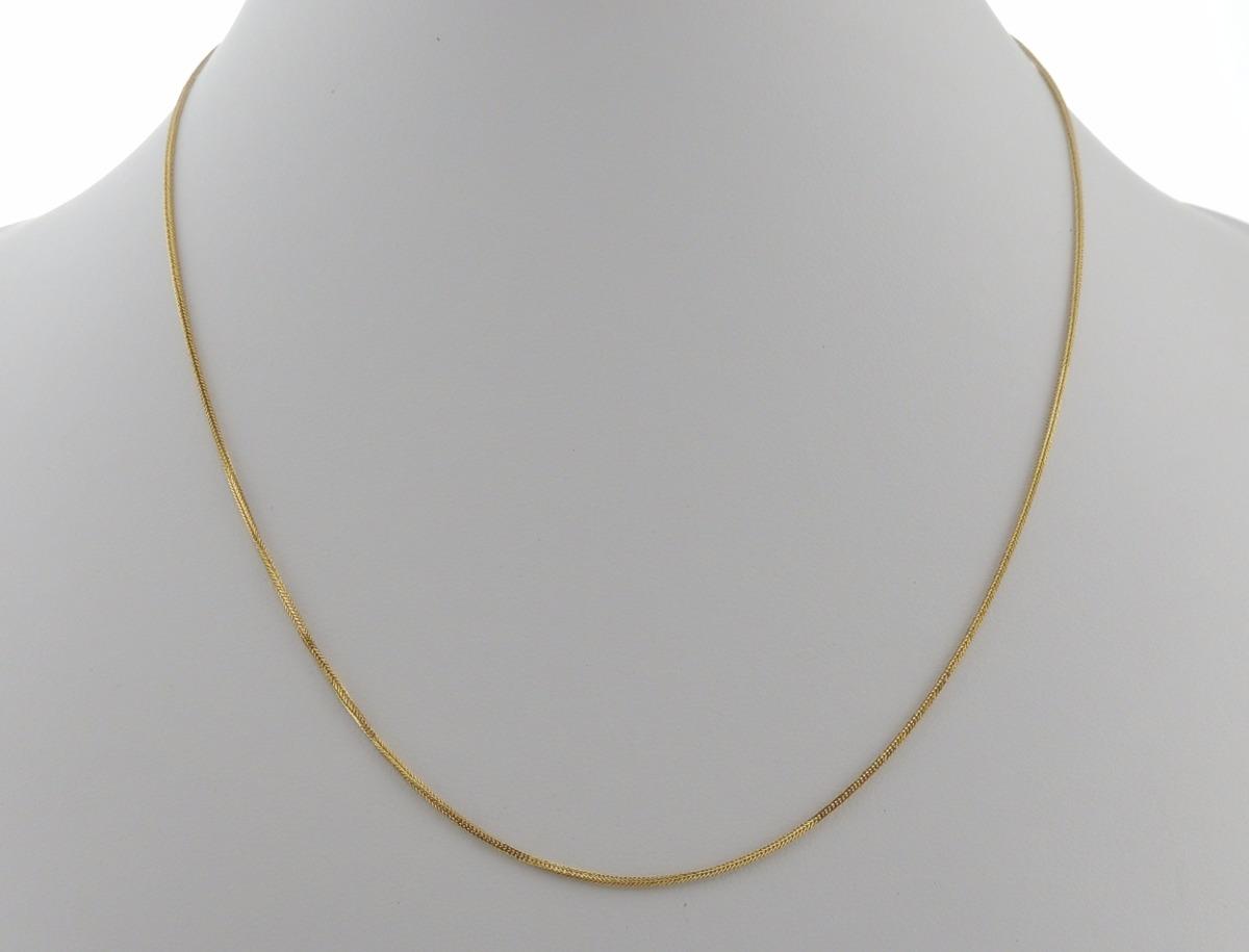 Corrente Cordão Veneziana 60cm Em Ouro 18k 1mm - R  750,00 em ... f16162c998