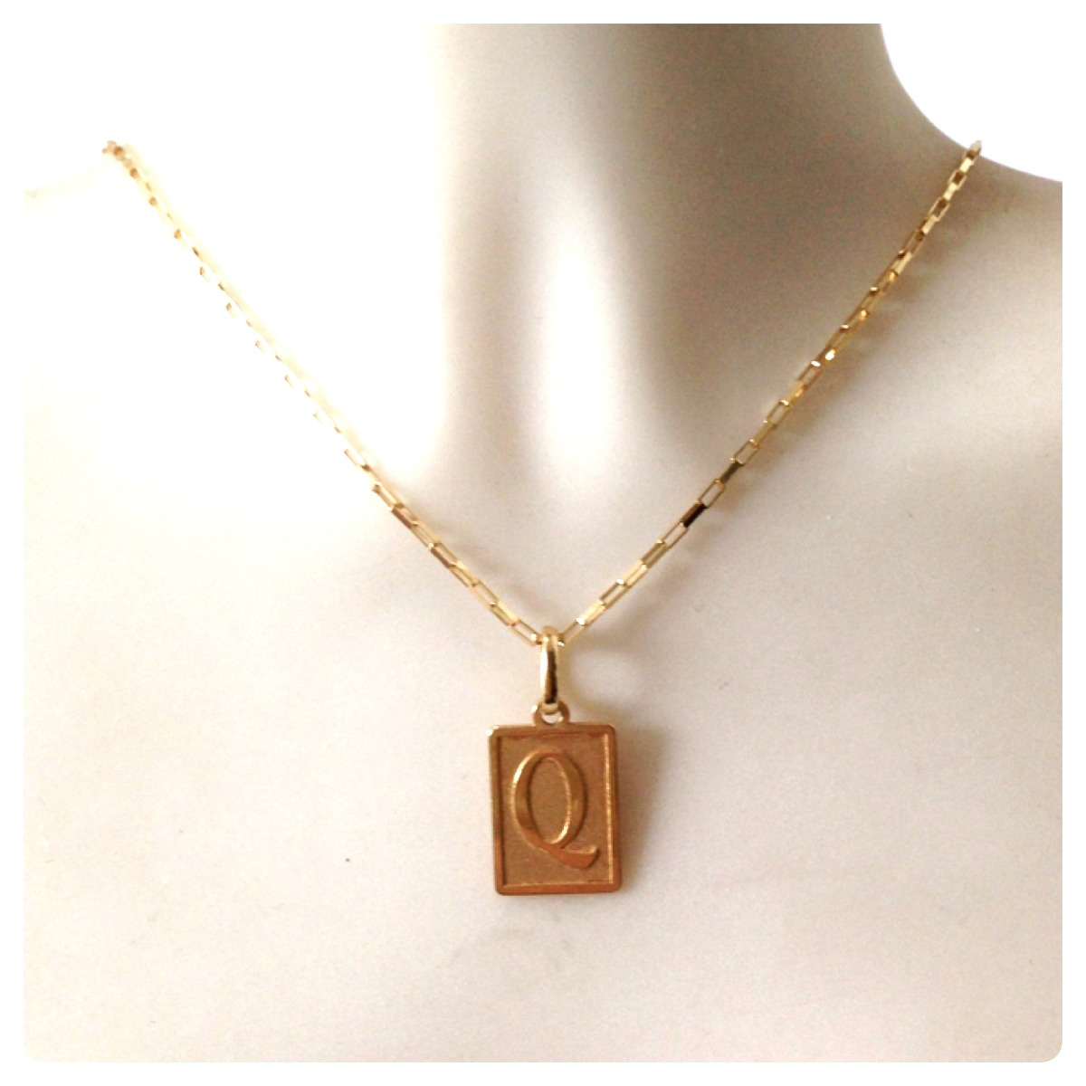Corrente De 70cm Com 3.6grs Pingente Letra Inicial Ouro 18k - R ... e0d8331bd9