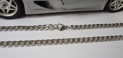 corrente de aço masculina 60cms aço inóx 3a
