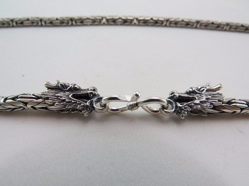 corrente de bali ponto peruano 60cm em prata 925