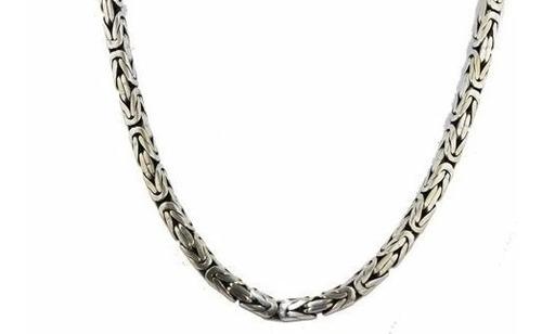 corrente de bali ponto peruano 6mm x 60cm em prata 925