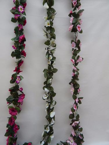 corrente de flores artificiais 2 mt - consulte frete