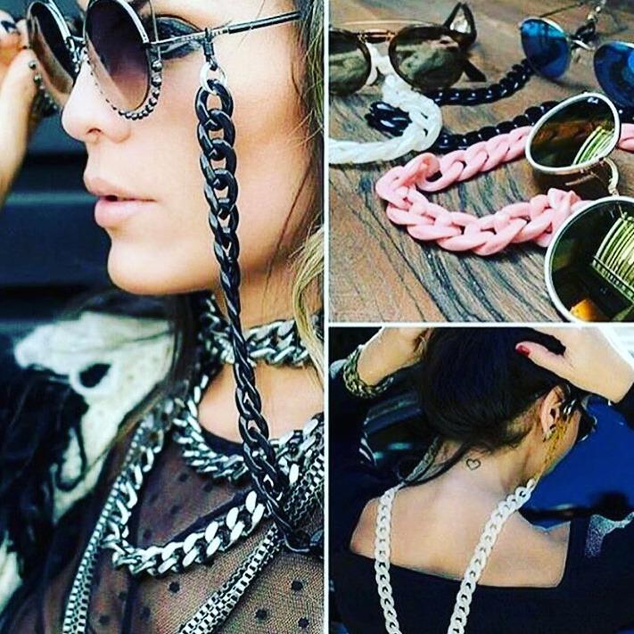 f3ddd91ce Corrente De Óculos Colar Eló Óculos Lançamento Blogueira - R$ 20,00 em  Mercado Livre
