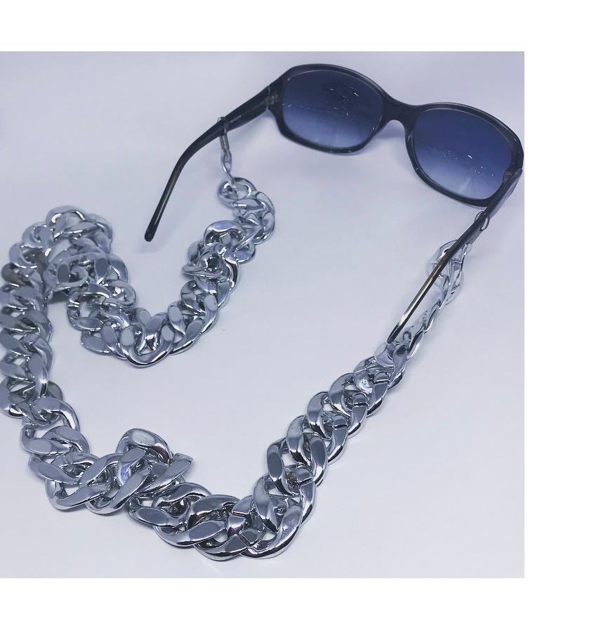 7971f39fb1c57 Corrente De Óculos Cordinha Salva Óculos Corrente Acrílica - R  35,00 em  Mercado Livre
